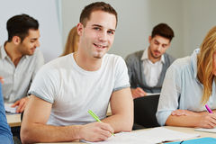 Student studying in course royalty free stock photography