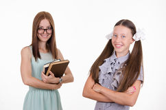 Happy student and teacher Royalty Free Stock Photography