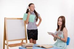 Happy student teacher response Royalty Free Stock Photos