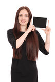 Happy student teenage girl with tablet pc Stock Photo