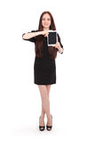 Happy student teenage girl with tablet pc Royalty Free Stock Image