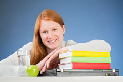Happy Student with Textbooks Royalty Free Stock Photography