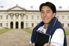 Happy student at university Stock Images