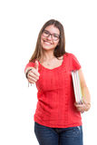 Happy student! Royalty Free Stock Images