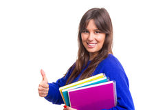 Happy student! Royalty Free Stock Photography