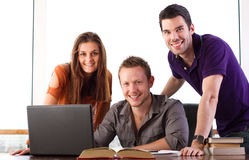 Happy students Royalty Free Stock Photo