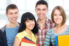 Happy students royalty free stock photo