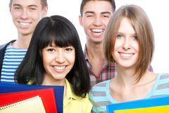 Happy students Royalty Free Stock Photos
