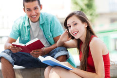 Happy students Stock Image