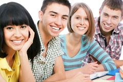 Happy students Stock Image