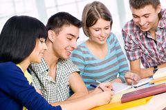 Happy students Stock Photos