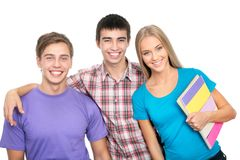Happy students Royalty Free Stock Photos