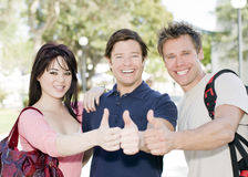 Happy students. Group of happy college students at a university Royalty Free Stock Photos