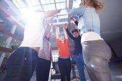 Happy students celebrate Royalty Free Stock Image