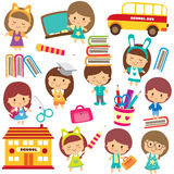 Happy students clip art. Vector file. It can be scaled to any sizes without losing resolution Royalty Free Stock Photography