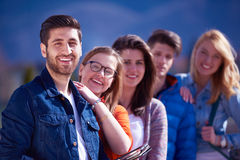 Happy students group Royalty Free Stock Photos