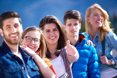 Happy students group Royalty Free Stock Photography