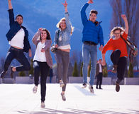 Happy students group Stock Photography