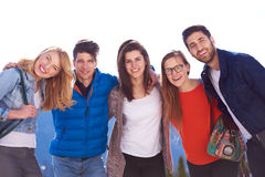 Happy students group Stock Photos