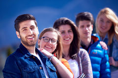 Happy students group Stock Image