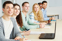 Students in seminar of university Stock Image