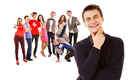 Happy students portrait Royalty Free Stock Photography