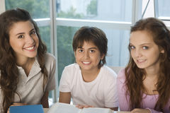 Happy students at school Royalty Free Stock Image