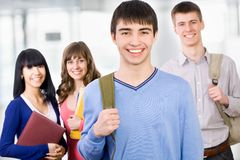Happy students Stock Photo