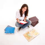 Happy studious young girl Royalty Free Stock Images