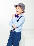 Happy stylish boy Stock Photo
