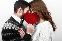 Happy stylish couple in love Royalty Free Stock Image