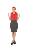 Happy woman giving a double thumbs up Royalty Free Stock Photos