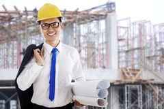 Happy success architect Stock Photography