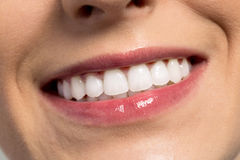 Happy success smile with perfect teeth Stock Photography