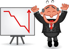 Boss Man Happy with Chart Stock Photography