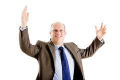 Happy and successful business man Royalty Free Stock Photo
