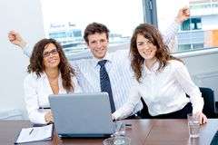 Happy successful business team Royalty Free Stock Photos