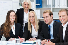 Happy successful business team Stock Photo