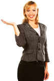 Happy successful business woman Stock Photos