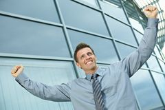 Happy successful businessman Stock Images