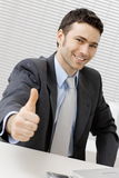 Happy successful businessman Stock Image