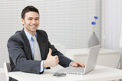 Happy successful businessman Stock Photography