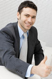 Happy successful businessman Royalty Free Stock Image