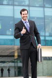 Happy and successful businessman stock photo