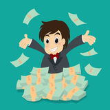 Happy successful businessman Stock Photo
