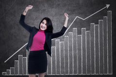 Happy successful businesswoman Stock Photography