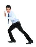 Happy successful gesturing businessman Stock Photos
