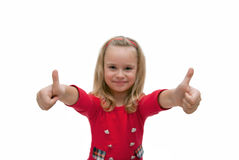 Happy successful girl Royalty Free Stock Images