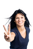 Happy successful latin girl Royalty Free Stock Photography