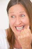 Happy successful mature woman Royalty Free Stock Photos